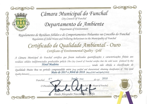 Certificate of environmental quality 2018