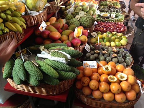 Farmer's market fruits