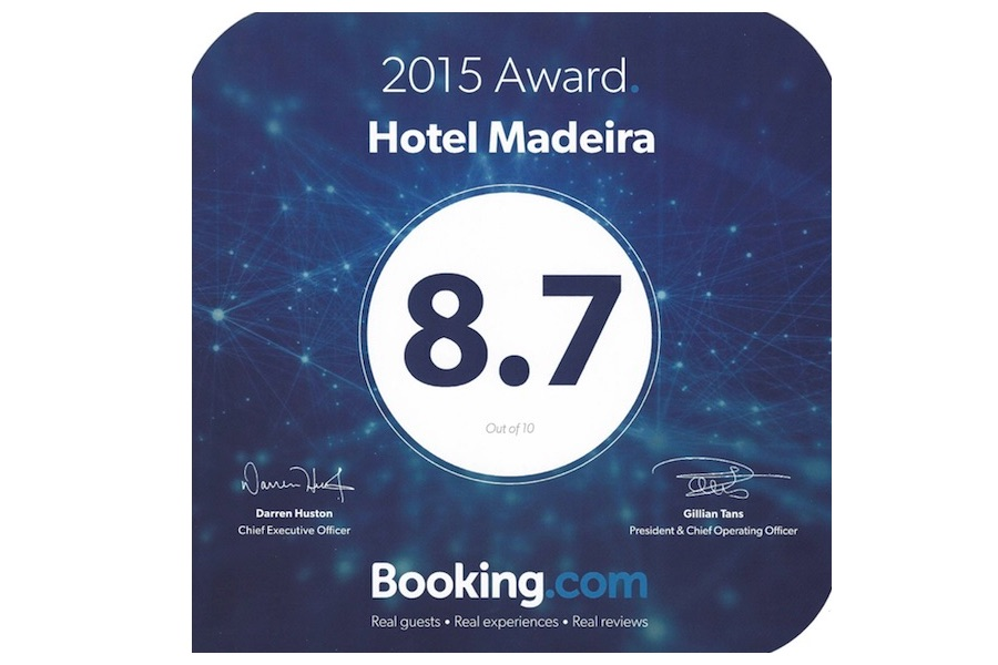 Award of Excellence from Booking.com